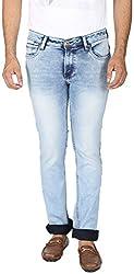 EASIES Men's Slim Fit Jeans (1093 Bndft Icyindg_38, Blue, 38)
