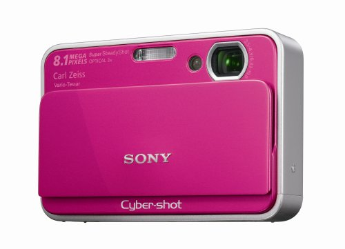 "Sony DSCT2P Digital Camera - Pink (8.1MP, 3x Optical Zoom) 2.7"" LCD"