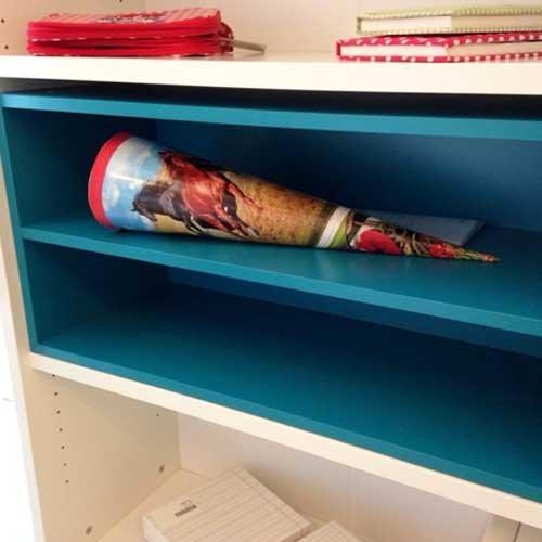 Regaleinsatz / Bücherregaleinsatz BACCA, türkis, 74,9x37x31,3cm jetzt kaufen