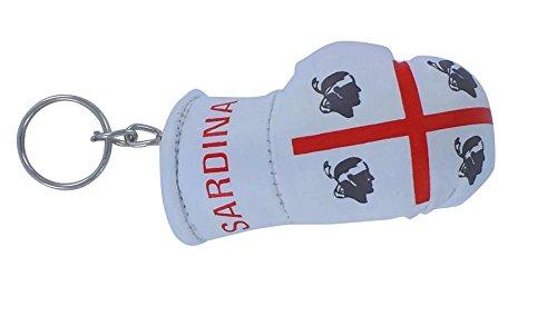Porta chiavi Portachiavi Portachiavi, motivo: bandiera della Sardegna sardina sardo guanto da boxe inglese keychain