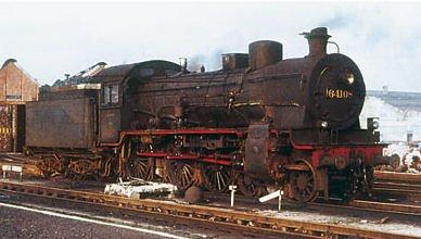 Trix HO Scale Steam Class 64 4-6-0 Locomotive Belgian State Railways NMBS/SNCB (Era III Scheme, green, black) - Standard DC