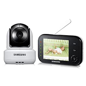 Samsung SEW-3037W SafeVIEW Baby Monitoring System IR Night Vision PTZ 3.5 Inch.