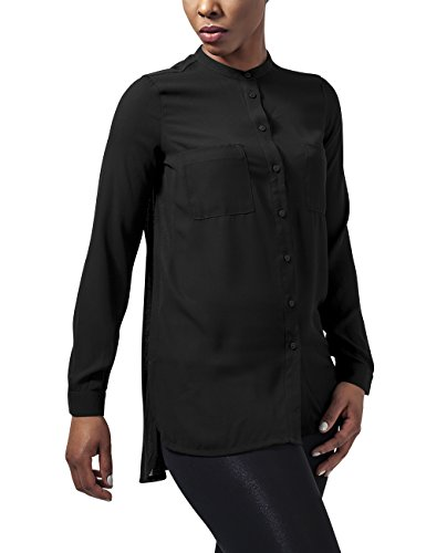 Urban Classics Ladies Hilo Chiffon Blouse, Camicia Donna, Nero (Black 7), 42