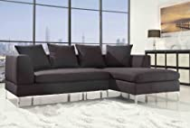 Big Sale Homelegance 9615 2-Piece Sectional Sofa Chaise, Charcoal Linen