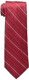 Tommy Hilfiger Men\'s Thin Stripe Tie, Red, One Size