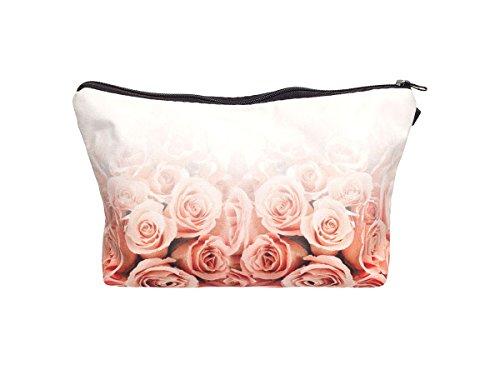 Beauty Case, borsa da viaggio, borsetta da toilette sacco sacchetto bagno per cosmetici trucco make up motivi diversi, Kosmetiktasche KT-002-050:KT-014 rosa