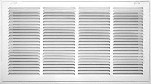 Accord ABRFWH2412 Return Filter Grille with 1/2-Inch Fin Louvered, 24-Inch x 12-Inch(Duct Opening Measurements), White (Ceiling Vent With Filter compare prices)
