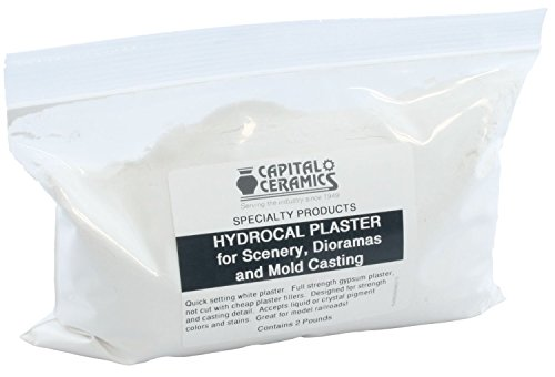 Hydrocal Plaster for Scenery, Dioramas and Mold Casting 2 lb Pack Resealable Bag Great for Model Railroads