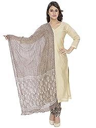 Pinkshink Beige Chanderi Salwar Kameez Dress Material k87