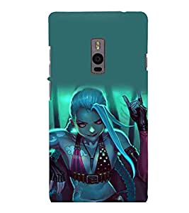 printtech Beautiful Anime Girl Back Case Cover for One Plus Two ::One Plus2