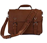 Amango Big Crazy Horse Cow Messenger Bag Travel Bags for Men Brown A7161B