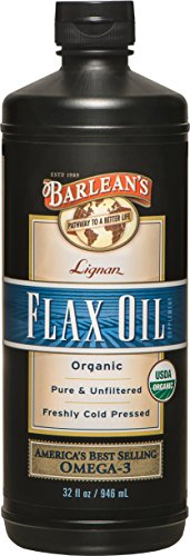 Barlean's Organic Oils Lignan Flax Oil, 32-Ounce Bottle