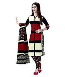 Fashionx Multi-Coloured cotton printed unstitched dress material