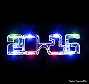 2016 LED Multi-Color Light-Up Glasses,New Years Eve, by Paradise Treasures (TM)