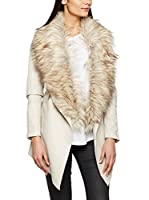 New Look Chaqueta Faux Fur Waterfall (Grau (Stone))