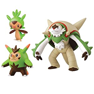 Pokemon Chespin, Quillad and Chesnaught Action Figure (3 Figure Pack)