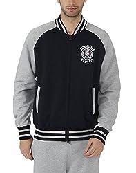 Fahrenheit Men's Fleece Sweat Shirt (8903942222078_Dark Blue Grey_Medium)