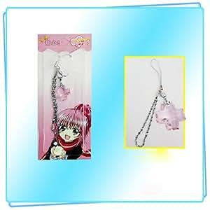 cosplay anime Shugo Chara Cross rhinestone mobile phone chain