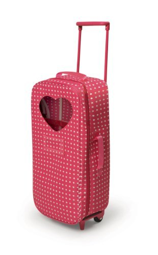 Badger Basket Trolley Doll Travel Case with Rocking Bed and Bedding - Star Pattern (fits American Girl dolls) by Badger Basket