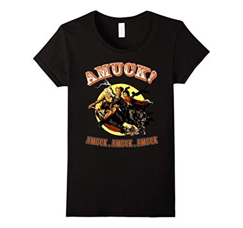 Women's Halloween t-shirt Amuck Amuck Amuck 3 witches fly  XL Black (Halloween Tshirt)