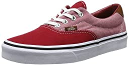 vans Men Ear 59 Canvas And Chambray (red / chili)-11.0