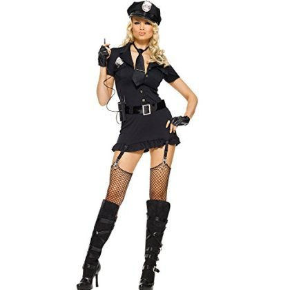 Dirty Cop Costume 6pc Set Size Medium Large