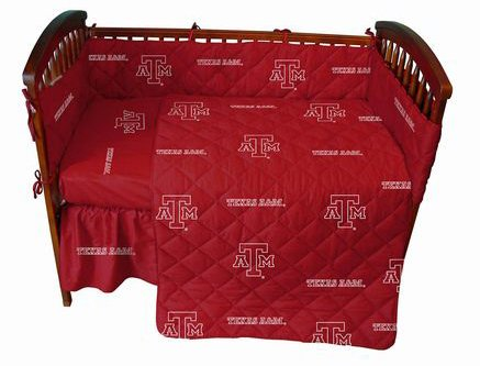Texas A&M Baby Crib Fitted Sheet - White - Texas A&M Aggies front-1005831