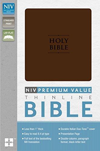 Biblia: La nueva versión internacional Chocolate, Italian Duo-Tone Premium valor Thinline Biblia