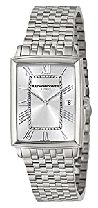 Raymond Weil Tradition Stainless Steel Mens Watch Silver Dial Calendar 5456-ST-00658