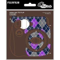 FUJIFILM デコチェキシール7SCH アーガイル instax mini7S チョコ用