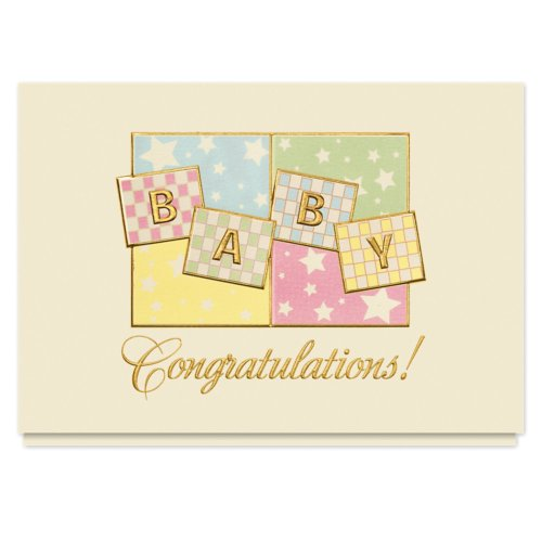 Baby Congrats Greeting Card - 25 Premium Birth