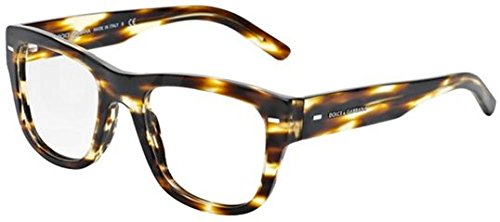 Dolce & Gabbana Dg3195 Eyeglasses-2826 Brushed Striped Havana-51Mm