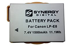 Canon EOS Rebel T3i Digital Camera Battery Lithium-Ion 1500mAh - Replacement for Canon LP-E8 Battery