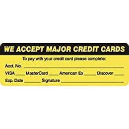 Credit Cards Visa-MC-Amex-Disc. 3\