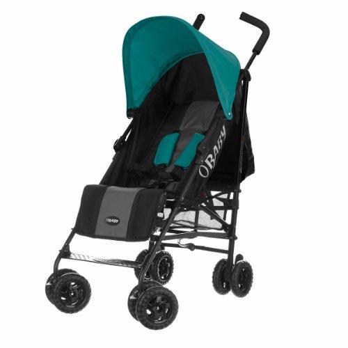 Obaby Atlas Black & Grey Stroller (Turquoise)