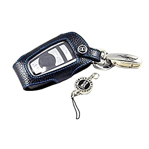 Etui de protection pour Porte-clés télécommande crochet en cuir véritable / Pochette / Trousse pour BMW