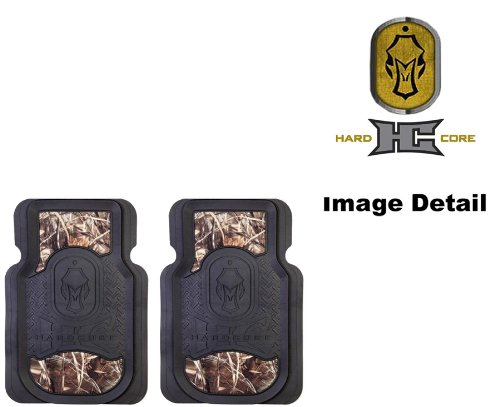 Hard Core Decoys Realtree Max-4 Brand Camo Logo Car Truck SUV Front Seat Heavy Duty Trim-to-Fit Rubber Floor Mats - Pair (Clear Mats For Chevy Cruze compare prices)