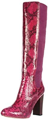 Juicy Couture Women's Romi Knee-High Boot,Royal Magenta/Snake Print,8 M US