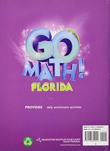Math, Grade 3 Enrichment Workbook: Houghton Mifflin Harcourt Math Florida (Math 2012 Wt)