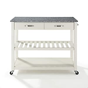 Crosley Furniture Stainless Steel Top Kitchen Cart Island With Optional Stool