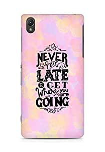 AMEZ never to late to reach where you are going Back Cover For Sony Xperia Z2