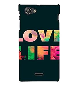 PrintVisa Life Quotes Design 3D Hard Polycarbonate Designer Back Case Cover for Sony Xperia J ST26i