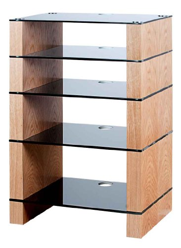Cheap BLOK STAX DeLuxe 500 Five Shelf Oak Hifi Hifi Audio Stand & AV TV Furniture Rack Unit (B003AKJHMO)