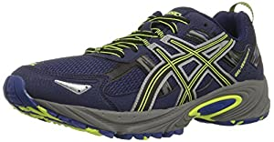 ASICS Men's GEL Venture 5 Running Shoe, Indigo Blue/Black/Flash Yellow, 8 M US