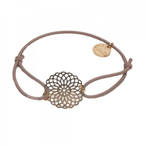 lua accessories Damen Armband Sun gold, taupe