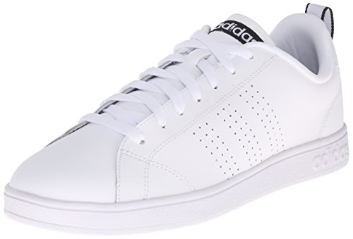 Adidas NEO Women's Advantage Clean VS W Casual Sneaker,White/White/Black,9.5 M US