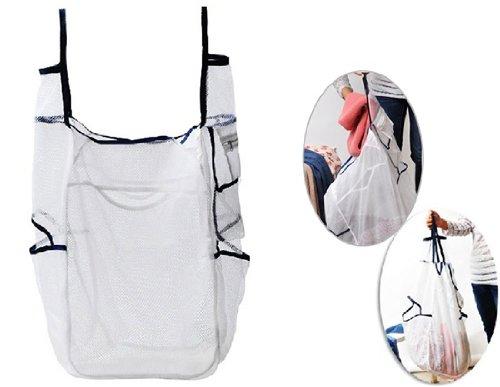 Best New Multi-Pocket Laundry Washing Mesh Bag (White) front-563371