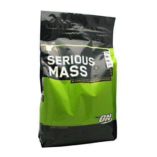 Optimum Nutrition Serious Mass 5.45kg Bag - VANILLA