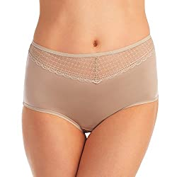 Vanity Fair Women's Beautifully Smooth with Lace Brief