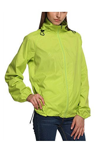 New fashion Waterproof Climbing Running Outdoor Hoodie Coat Sport Cycling Jacket, Green, Small